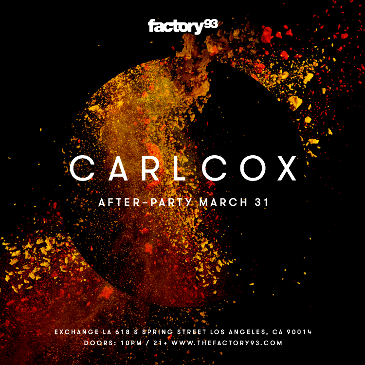 Carl Cox After-Party