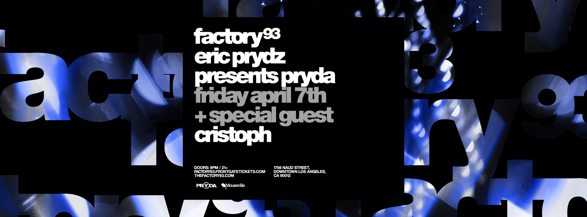 Eric Prydz presents Pryda <br />(Night 1)