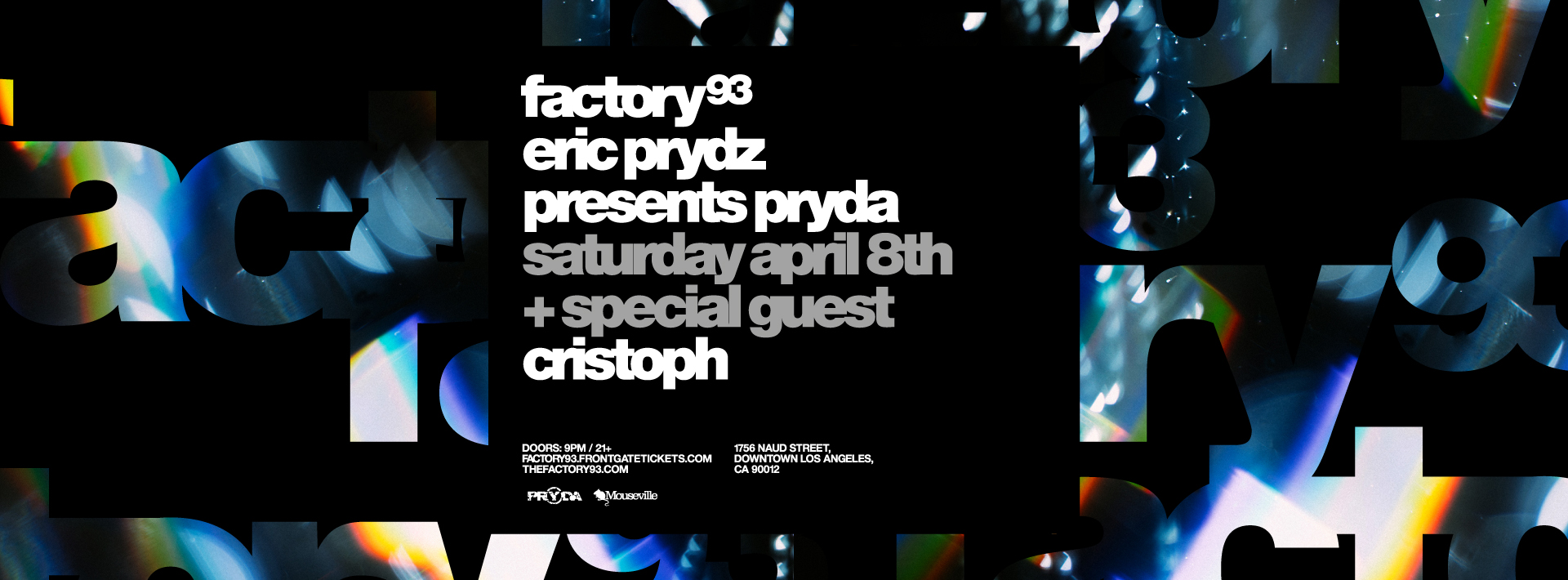 Eric Prydz presents Pryda <br />(Night 2)