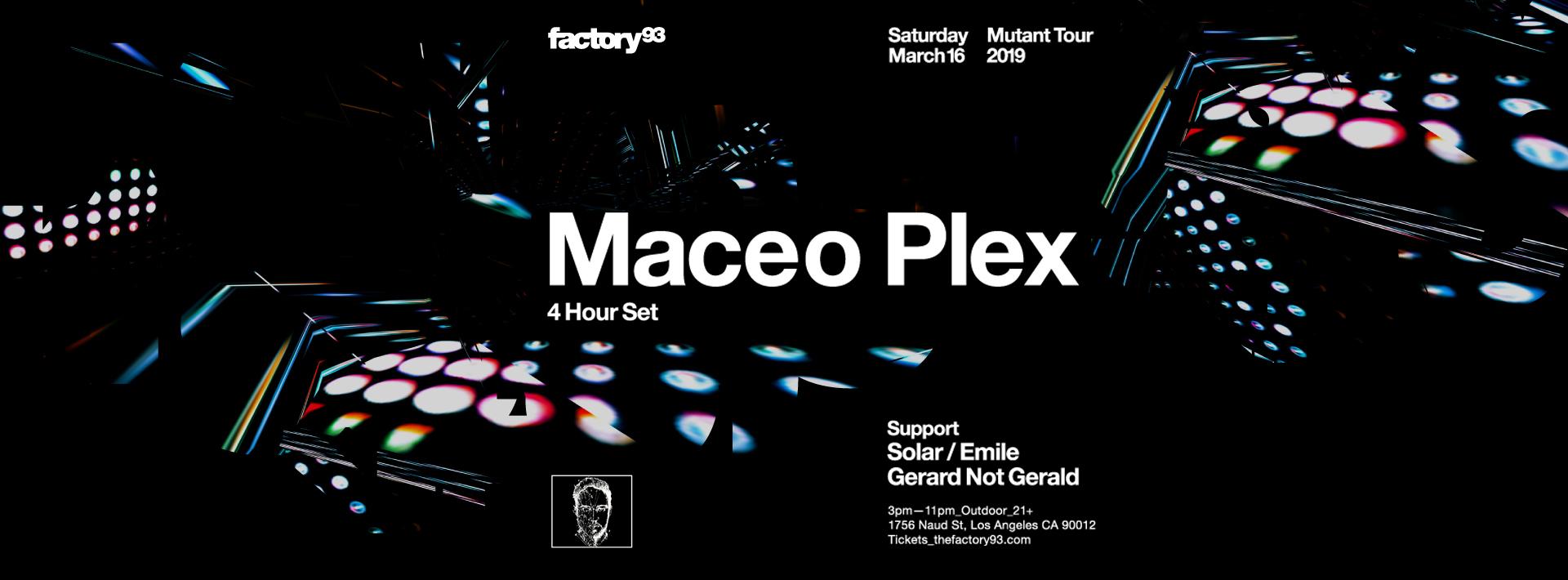 Maceo Plex – Mutant Tour