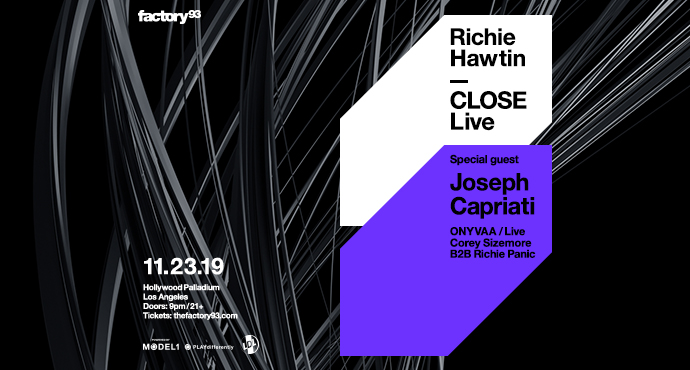 Richie Hawtin CLOSE + Joseph Capriati