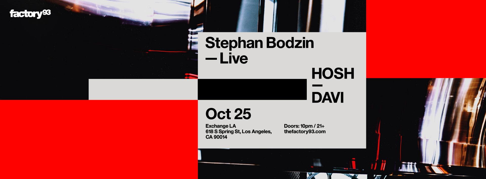 Stephan Bodzin (live), HOSH, DAVI
