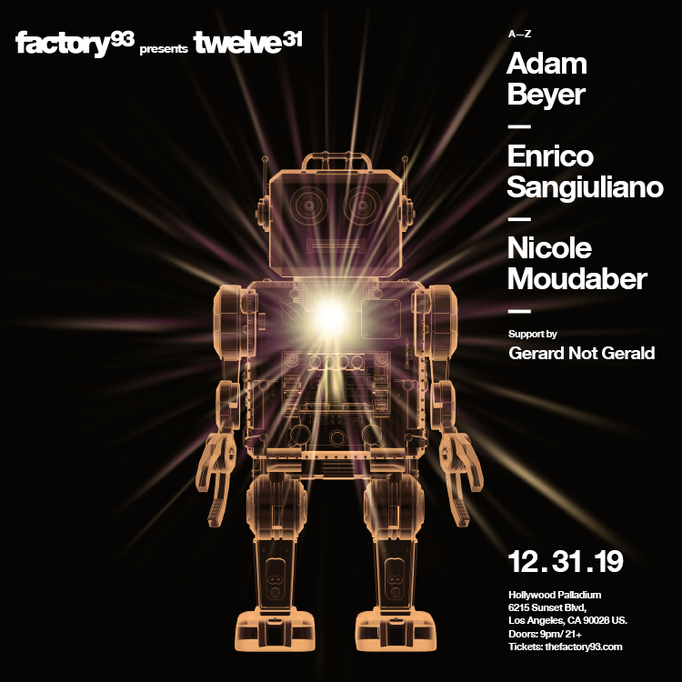 Twelve 31 with Adam Beyer, Enrico Sangiuliano, Nicole Moudaber