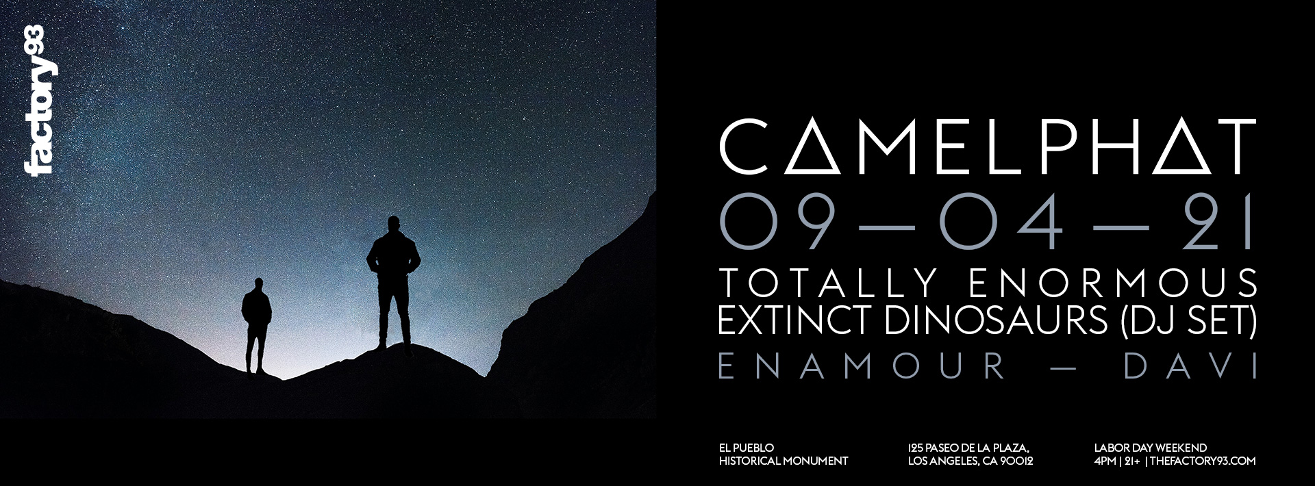 CamelPhat with Totally Enormous Extinct Dinosaurs